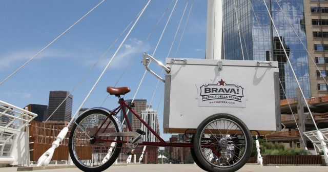 Brava! Pizzaria Delivery Bicycle in Denver